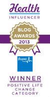 BUPA Badge Positive Life Change winner