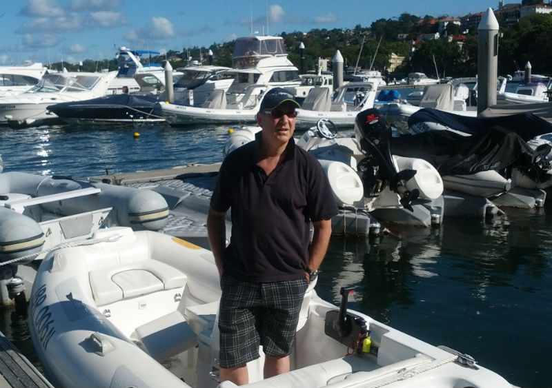 Dr Michael Finkelstein, Sydney Dentist, on boat